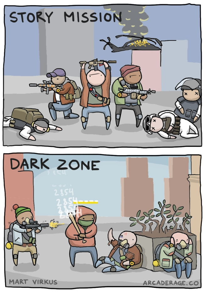 Story missions vs the Dark Zone in Division - Mart Virkus