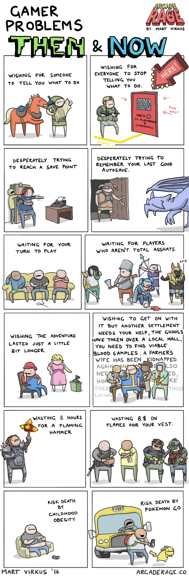 Gamer Problems Then & Now - Mart Virkus