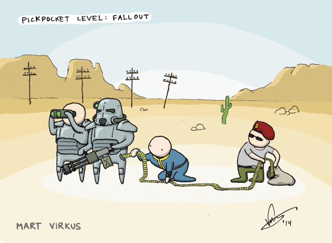 Pickpocketing in Fallout