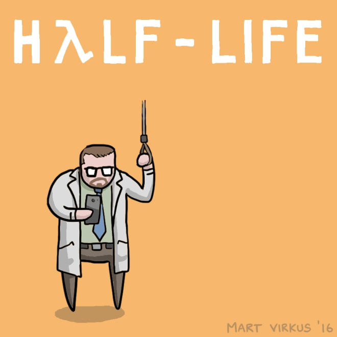 30 Day Half Life Drawing Challenge by Mart Virkus