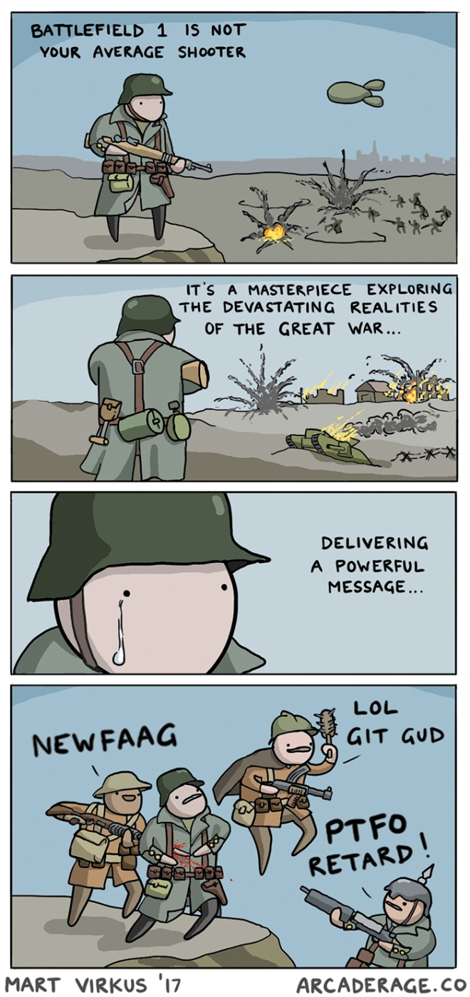Battlefield 1 in a nutshell - a comic by Mart Virkus