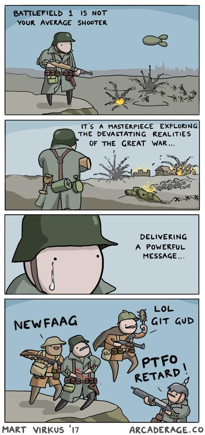 Battlefield 1 in a nutshell - a comic by Mart Virkus