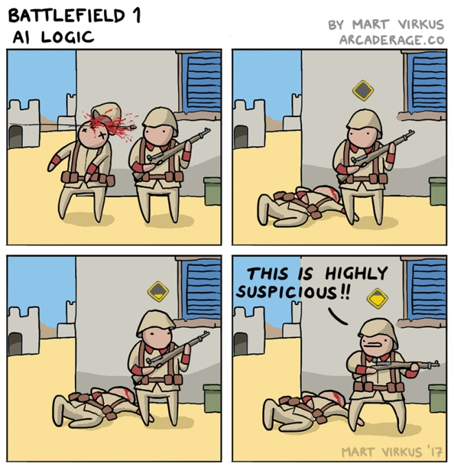 Battlefield 1 AI logic