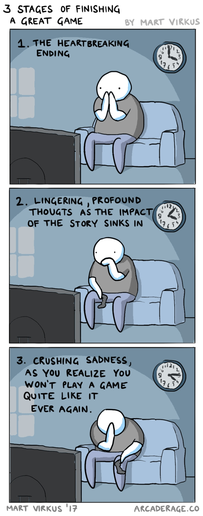3 Stages of Finishing a Great Game