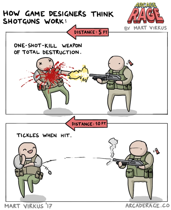 How Game Designers Think Shotgun Works