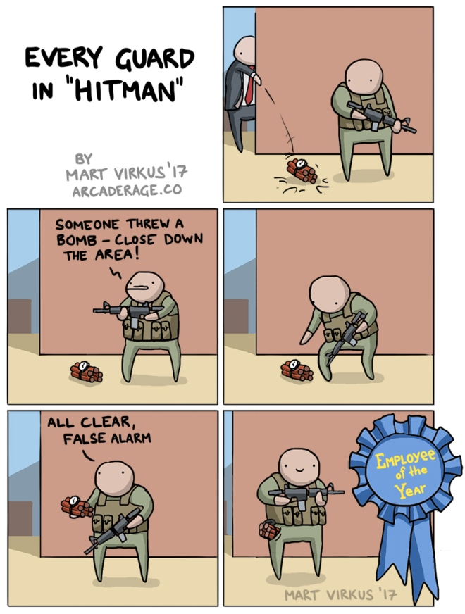 Guard logic in Hitman