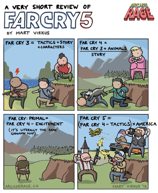 A Very Short Comic Review of Far Cry 5