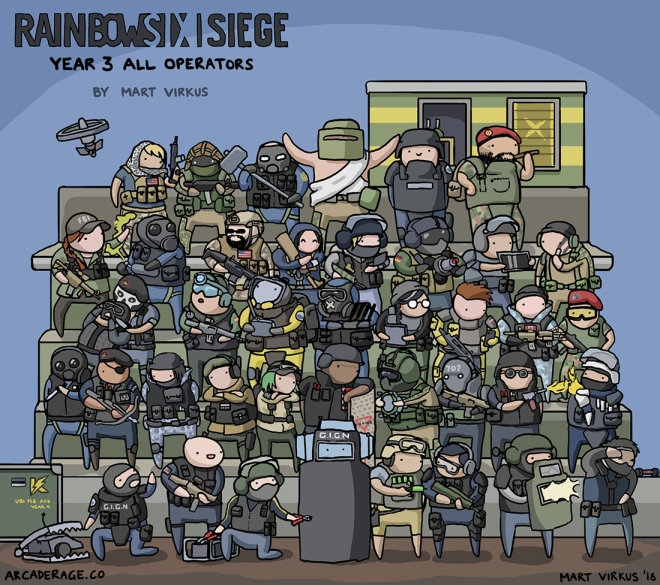 All Rainbow Six Siege Operators - Year 3