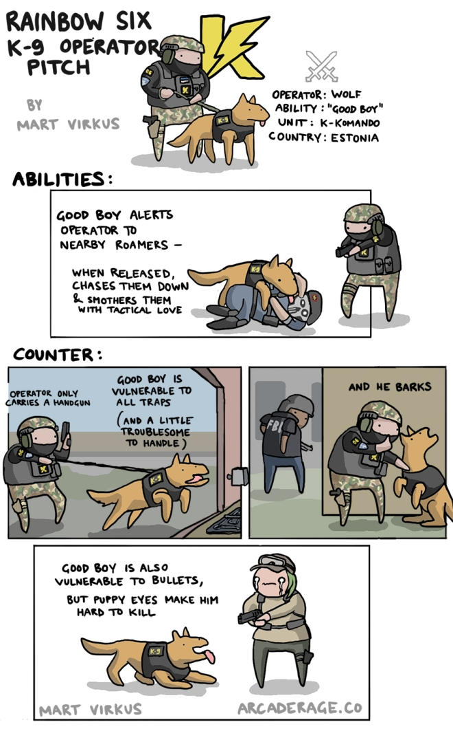 Rainbow Six Dog Operator Pitch