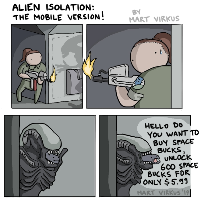 Alien Isolation mobile version comic