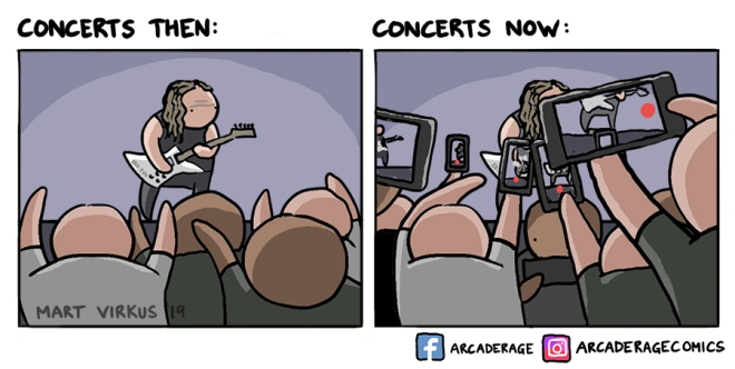 Concerts then vs concerts now
